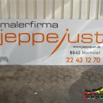 Jeppe Just Malerfirma, Skilte udført for Hornslet hallerne